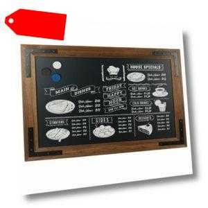 Kreidetafel DISPLAY SALES Holz Noir MAGNETISCH Schreibtafel Wandtafel