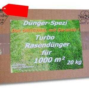 TURBO Rasendünger Dünger für 1000m² Langzeitwirkung NEU +1kg Rasendünger