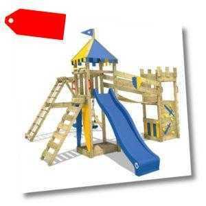 WICKEY Spielturm Ritterburg Smart Legend 150 Doppelschaukel Garten Kletterturm