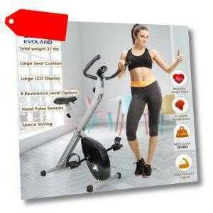 LCD Klappbarer Fahrrad Hometrainer Heimtrainer Cardio Ergometer Bike Trimmrad DE