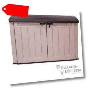 Keter Store it Out Fahrradbox Aufbewahrung Gerätebox Gartenbox Mülltonnenbox