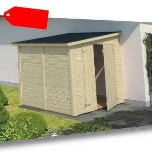 Palmako Gerätehaus Mia 3,4 m² Holz Pultdach 14-19 mm Gartenhaus Geräteschuppen