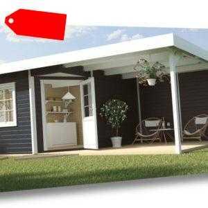 Weka Gartenhaus Designhaus 213 B Gr.2, 5-Eck, anthrazit 601 x 298