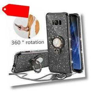 Handy Hülle Für Samsung S8 S9 S10 Plus Tasche Bling Glitter Schutzhüllen Case