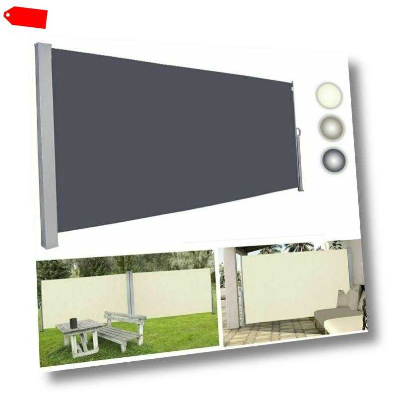 Markise Sichtschutz Windschutz Seitenmarkise Markisenstoff Seitenrollo Terrasse