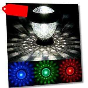 LED Kristall Gartenleuchten Solithia Solarleuchte 4er o. 8er Set  Farbwechsel