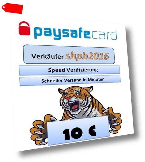 Paysafe Card 10€ -- Versand wenige Minuten nach Zahlung  --  9-23Uhr