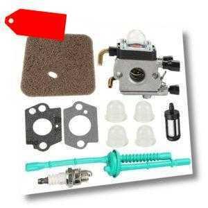 2X(Vergaser mit Kraftstoff Leitung Kit Luft Filter für Stihl Fs38 Fs45 Fs46S3M8)