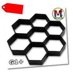 G1+ Betonform Gießform Pflasterform Wabe 30x30cm Pflastersteine Pflaster Form