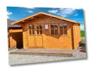 35 mm Gartenhaus 400x300 cm 4x3 m Gerätehaus Blockhaus inkl. Fußboden ALL IN