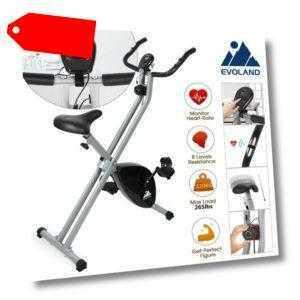 LCD Fitness Fahrrad Klappbarer Heimtrainer Hometrainer Cardio Ergometer Trimmrad