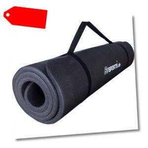 ScSPORTS® Gymnastikmatte Yogamatte Fitnessmatte Turnmatte 190x60x1,5 cm schwarz
