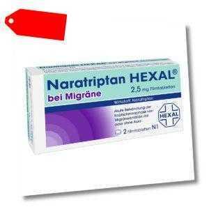 Naratriptan HEXAL bei Migräne 2,5mg 2stk PZN 09334719