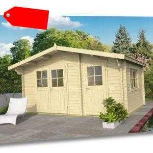 40mm Gartenhaus ISO 450x300 cm 2 Räume Holz Holzhaus Blockhaus Schuppen Hütte