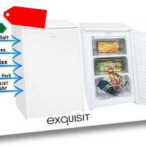 exquisit GS 111-4.1 A++ Gefrierschrank Tiefkühlschrank 60 Liter...