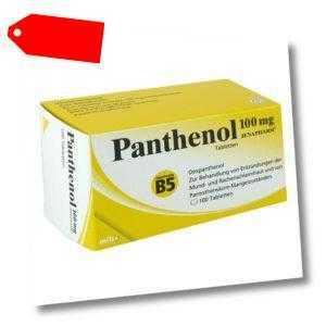 Panthenol 100 mg Jenapharm Tabletten 100stk PZN 06150835