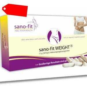 Endlich richtig Abnehmen sano-fit WEIGHT ORIGINAL - effektiv abnehmen, Fatburner