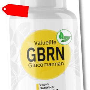 Glucomannan G-BRN - Natürlicher Appetitzügler zur Diätbegleitung von VALUELIFE