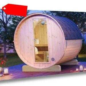 Fass-Sauna Mini 160 Massivholz Gartensauna Massivholzsauna Saunahaus Sauna Außen