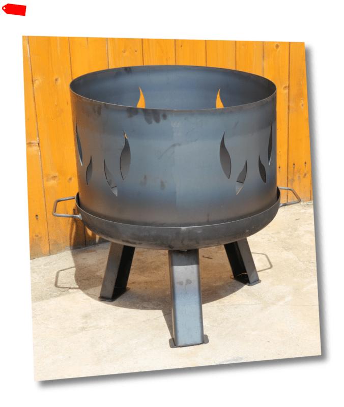 Feuerschale Ø 60 cm 600 mm  Klöpperboden Pflanzschale mit Aufsatz