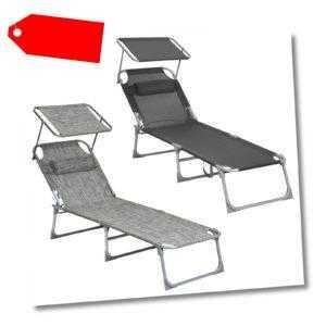 SONGMICS Liegestuhl Sonnenliege Gartenliege Relaxliege Strandliege klappbar