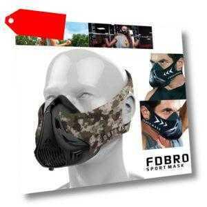 FDBRO High Altitude Workout Sporttraining Gesichtsmaske Running Gym Fitness Mask