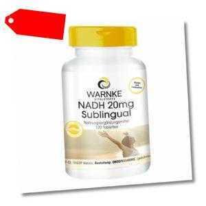 Warnke NADH 20mg sublingual Tabletten, vegan
