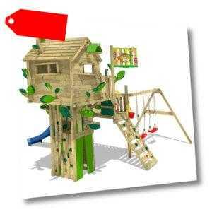 WICKEY Spielturm Klettergerüst Smart Treetop Baumhaus Doppelschaukel Rutsche