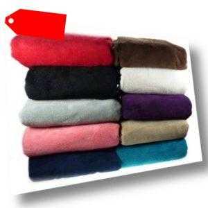 Luxus Weich Bequem Koralle Fleece Überwurf Bett Sofa Heim Decke
