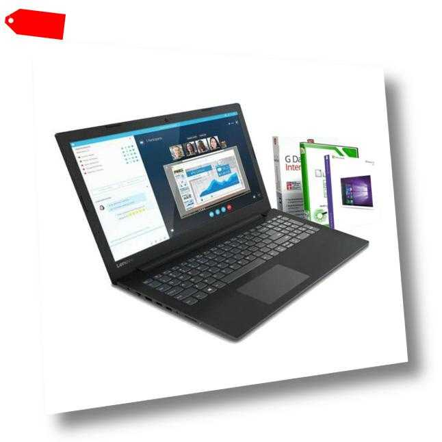 "15.6"" Lenovo Laptop 2x 2.60GHz - 8GB DDR4 - 512GB SSD - R3 - Windows 10 Notebook"