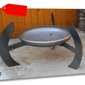Feuerschale Gamma Ø 80 cm 800 mm  Klöpperboden inkl. 3 Füße