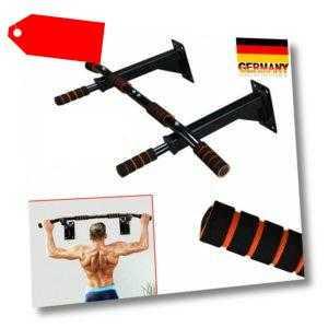 Klimmzugstange Wand, Profi Multigriff Pull-Up Stange für Wandmontage Fitness DE