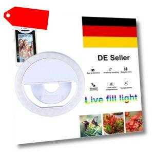 Selfie Licht Ring mit USB-Kabel Handy Flash LED Light Fotolicht für Smartphone