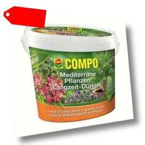 Compo Mediterraner Langzeit-Dünger 1,5 kg Dünger Zitruspflanzen Hibiskus Oliven