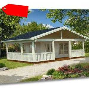 70 mm Gartenhaus Agneta 2 Blockhaus 750 x 650 cm Ferienhaus Schuppen Holzhaus