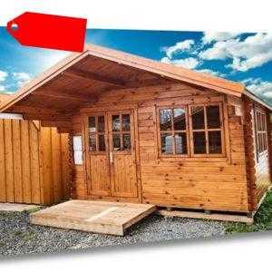 44 mm Gartenhaus 400x400 cm 4x4 m Gerätehaus Blockhaus inkl. Fußbode