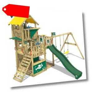 WICKEY Spielturm Klettergerüst Smart Flight - Baumhaus mit Schaukel + Rutsche