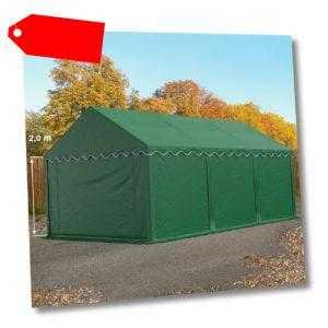 Lagerzelt 4x6m Weidezelt Zelthalle Unterstand wasserdicht PVC 500g/m² dunkelgrün