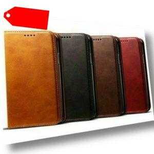 Handy Hülle Leder Samsung Apple Huawei Xiaomi Nokia Magnet Schutz Tasche Case