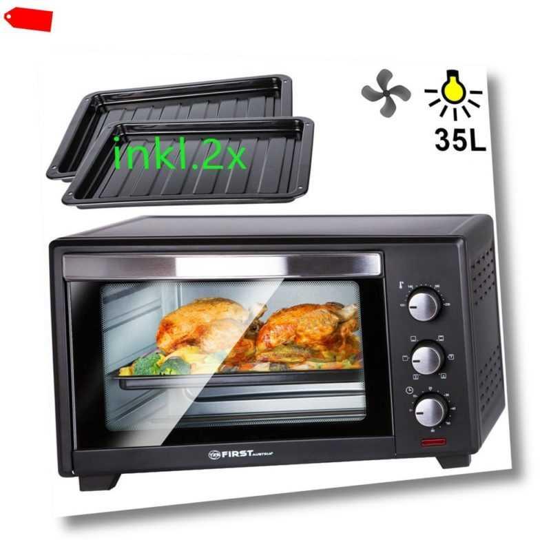 B-Ware: 35 L Mini-Backofen mit Krümelblech 1600 Watt | Pizzaofen...