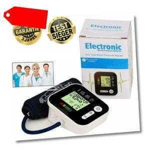 LCD Digital Oberarm Blutdruckmessgerät Vollautomatisch Hochpräzise Pulsmessung