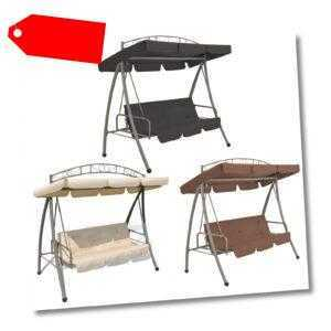 vidaXL Hollywoodschaukel mit Dach Gartenschaukel Schaukelbank mehrere Auswahl