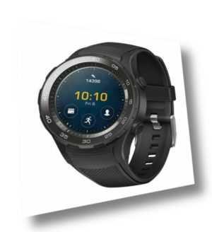 Huawei Watch 2 45mm Sport Fitness Uhr Schwarz Sportarmband Smartwatch