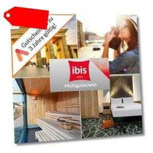 Kurzreise ibis Multi Gutschein 20 Wahl Hotels 3 Tage für 2 Personen + Frühstück