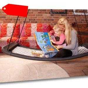 Familienschaukel Lifestyle Standard EL weiß/blau Relaxschaukel Schaukel