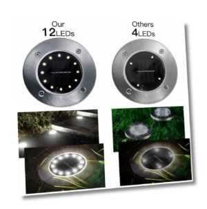 12 LED Solarlampe Garten beleuchtung Solarleuchte Bodenstrahler Bodenleuchte DE