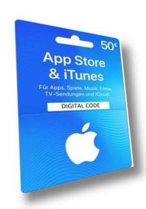 iTunes Card 50 Euro DE - 50 € Eur Gutschein Geschenkkarte für App Store