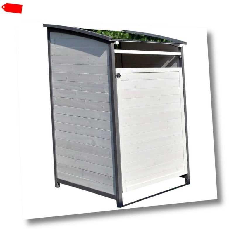 Mülltonnenverkleidung Einzelnox 120 Liter Mülltonnenbox Holz Mülltonnenhaus ?️