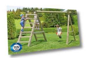 Schaukel Premium 2.1 Kinderspielgerät Kinderschaukel Kinder Holz Spiel kdi NEU