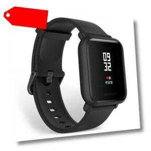 HUAMI AMAZFIT Bip Lite Heart Rate Smart Watch Wasserdicht Schrittzähler Schwarz